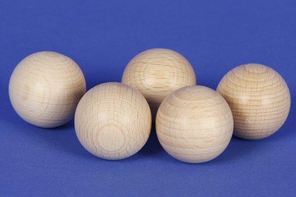 Sphères en bois de hêtre Ø 25mm - 6mm percés
