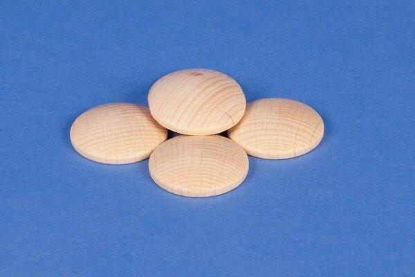 50 wooden dome discs beech Ø40mm