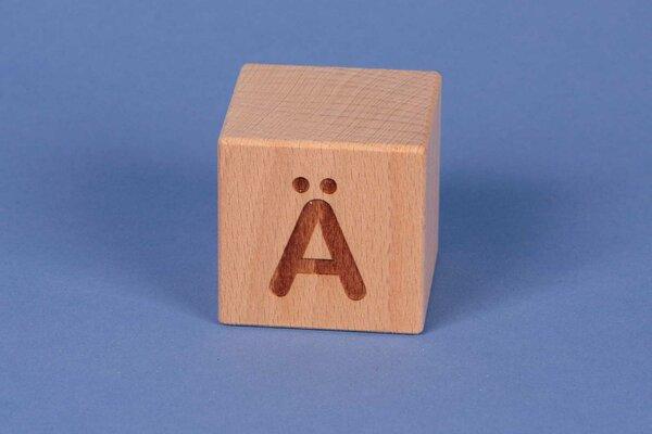 Buchstabenwürfel Ä positiv