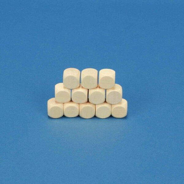 Houten dobbelstenen blank 1,6 cm