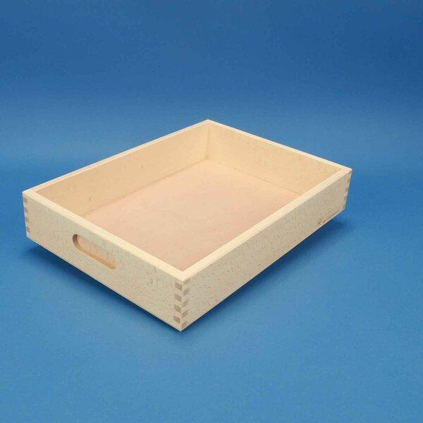 Beechwood box flat without wooden blocks