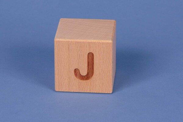 Letter cubes J positive