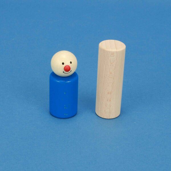 cylinder of beechwood Ø 2,5 x 7,5 cm