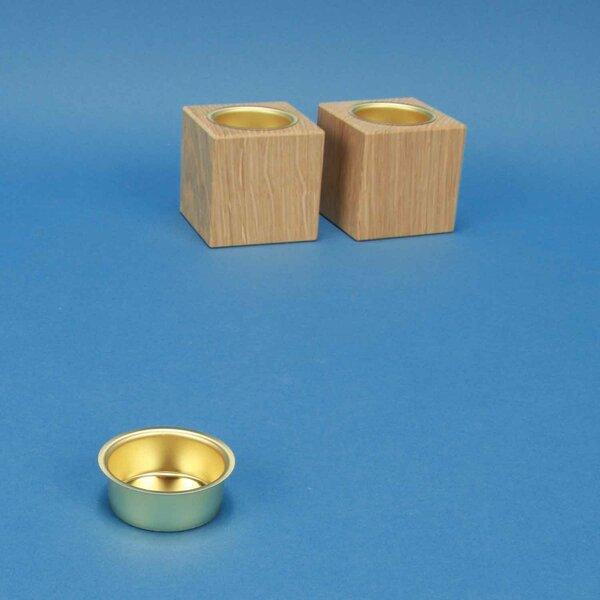 Teelichttülle 4cm vermessingt