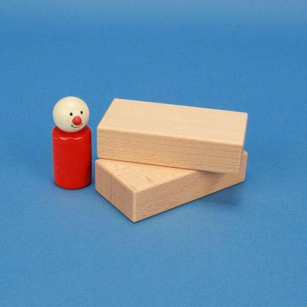 Holzbausteine aus Buche 10 x 5 x 2,5 cm