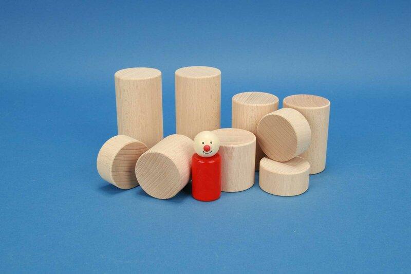 Bauklötze rund - Zylinder 50mm