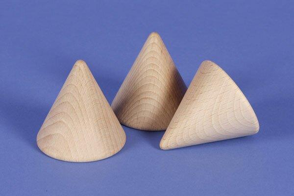 grote conus van beukenhout 6 cm