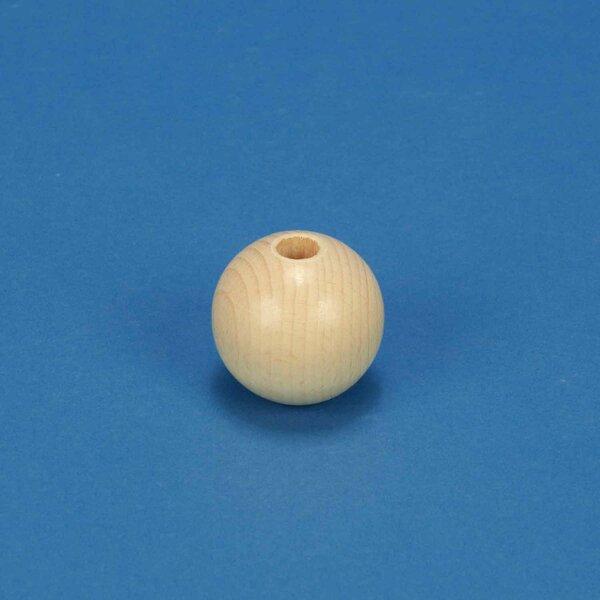 perle en bois Ø 40mm perces 10mm