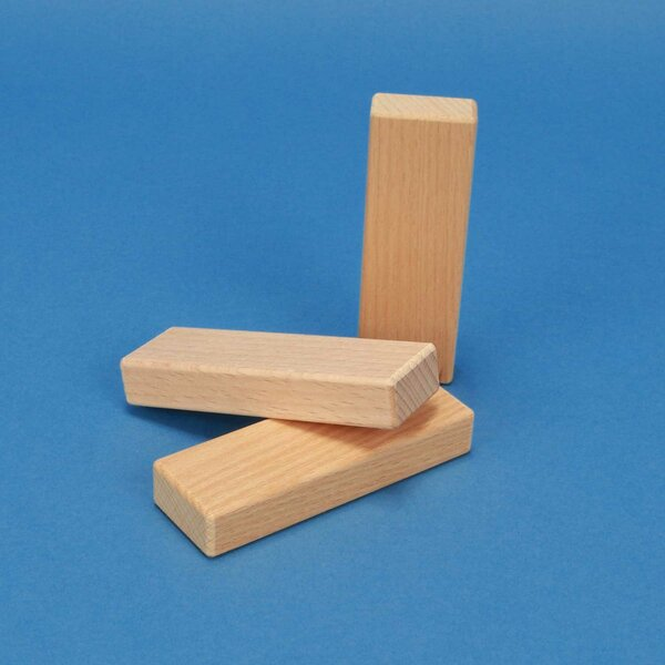 wooden building blocks 9 x 3 x 1,5 cm