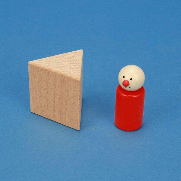 wooden triangular pillar 6 x 6 x 6 cm equilateral