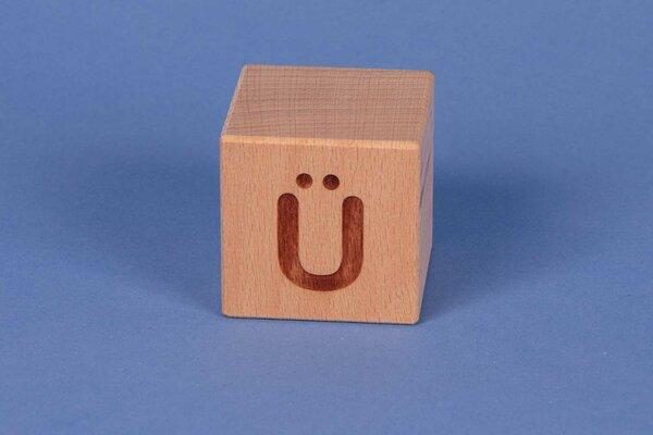 Letter cubes Ü positive