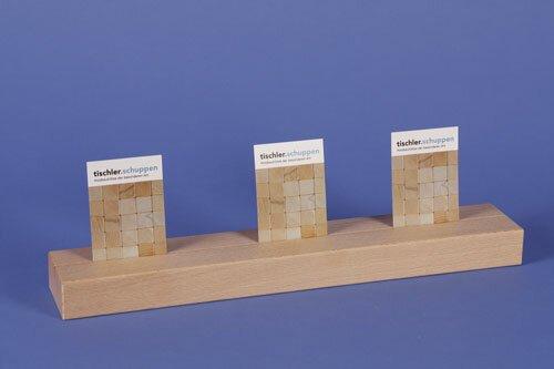 cubes en bois 36 x 6 x 3 cm single-slit