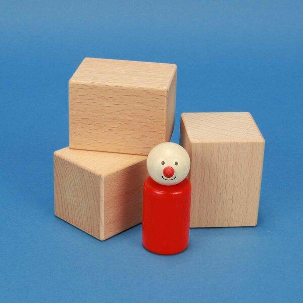 wooden blocks 6 x 4,5 x 4,5 cm beech