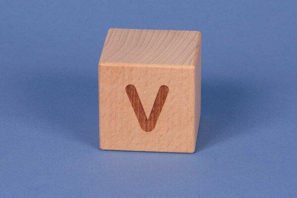Letter cubes V positive