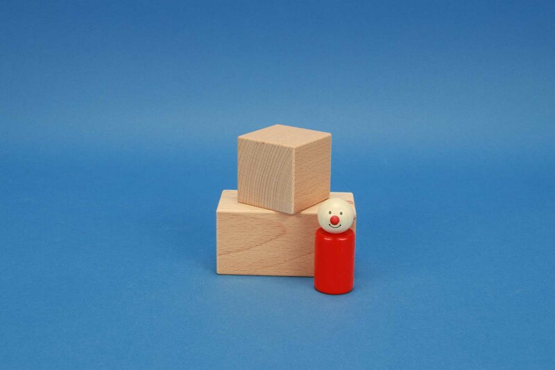 cubes en bois 5 x 5 cm