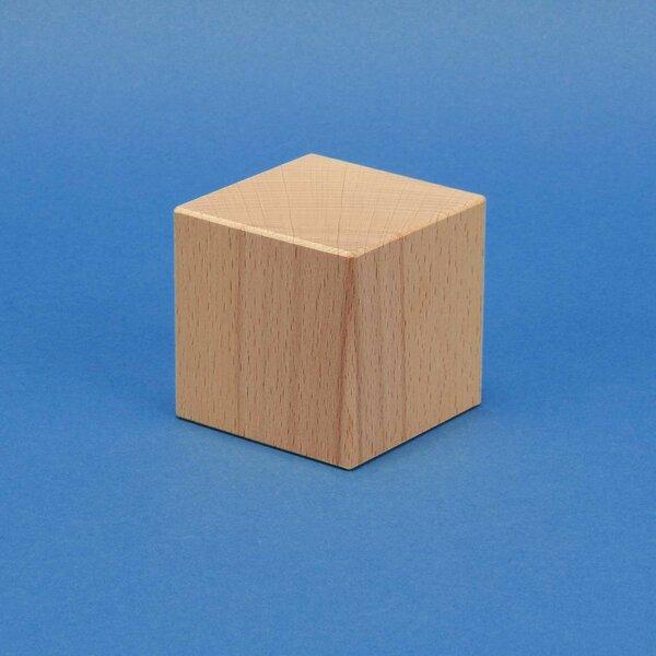 Stempelholz aus Buche 3 x 3 x 3 cm