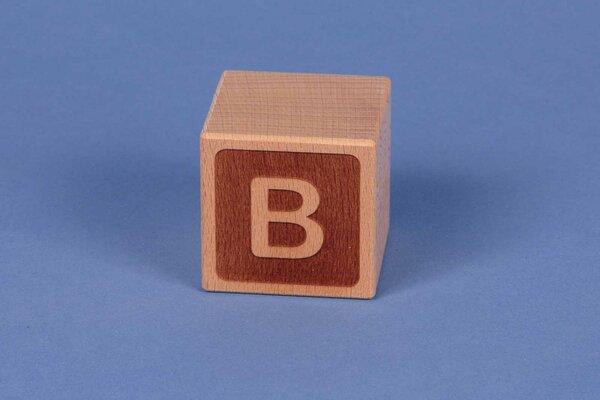 Letter cubes B negative