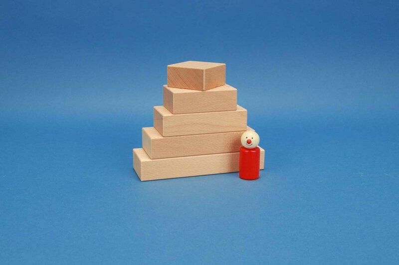 cubes en bois fröbel 6 x 3 cm
