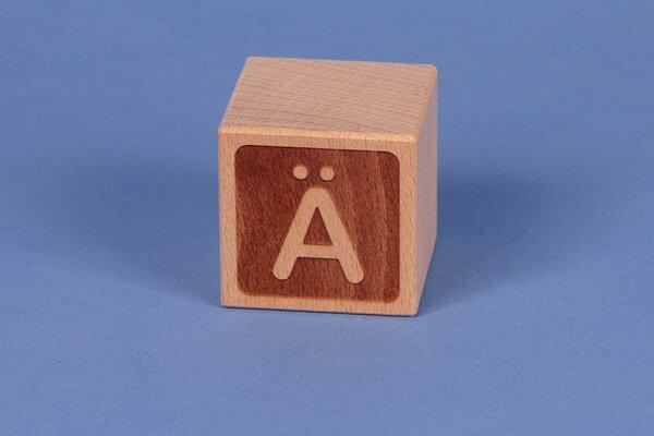 Cubes en lettres Ä négatif