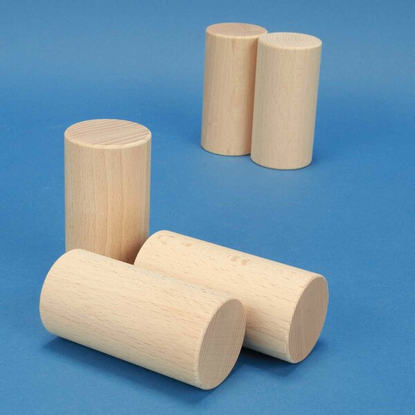 Holzzylinder aus Buche Ø 4,5 x 9 cm