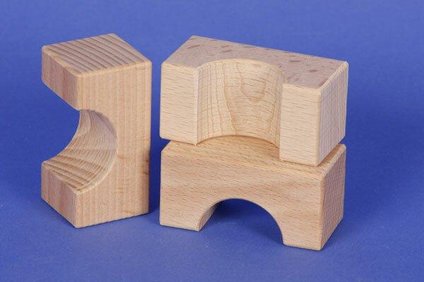houten blokken half-drilled 6 x 3 x 3 cm - 3 cm half-drilled