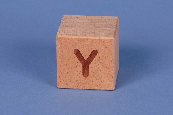 Buchstabenwürfel Y positiv