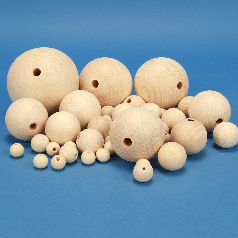 houten ballen half drilled