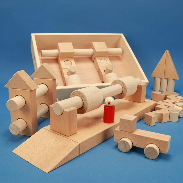 Wooden blocks set Special 57 flat beechbox laserengraved