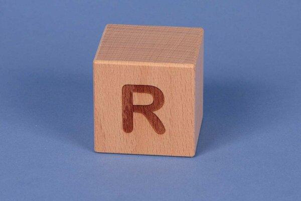 Houten naam blokken R positief