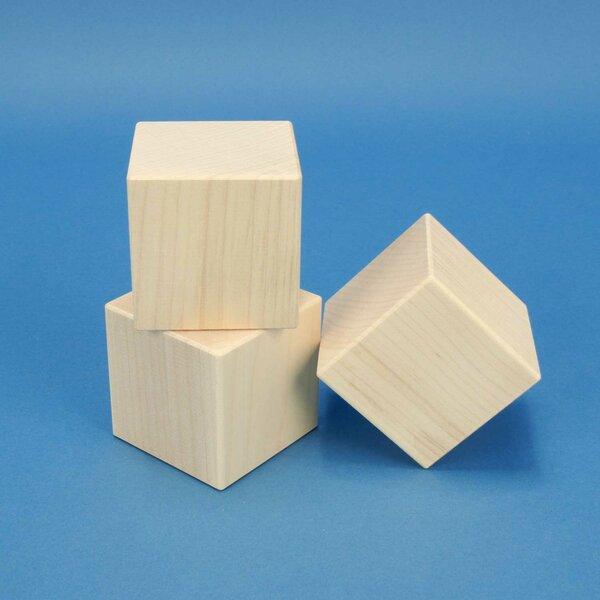 Holzwürfel 6 cm aus Ahorn