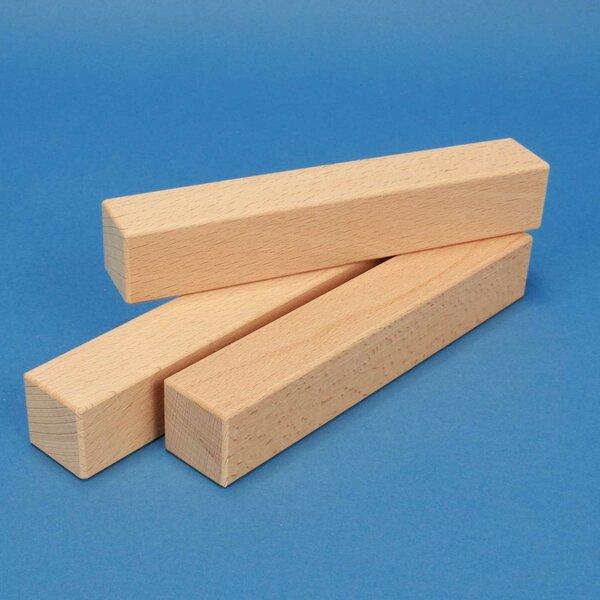 wooden building blocks 18 x 3 x 3 cm
