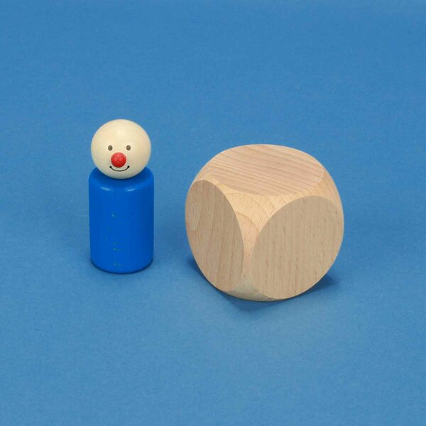 wooden dices blank 5 cm