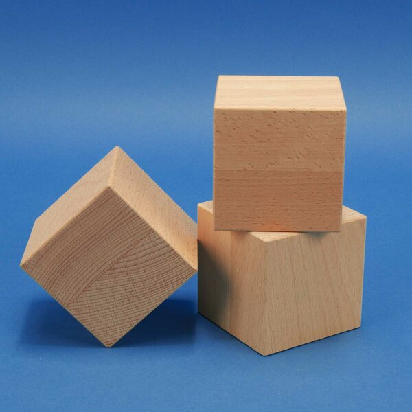 houten kubus blokken 10 cm