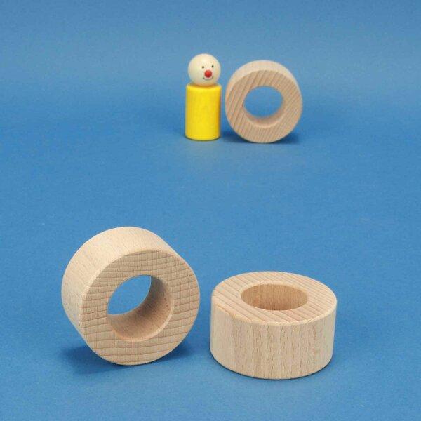 houten blokken rond Ø 6 x 3 cm - 3 cm drilled