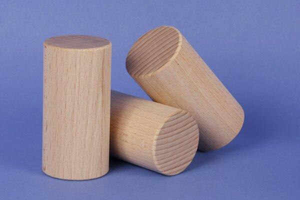 cylindre en hêtre Ø 4,5 x 9 cm