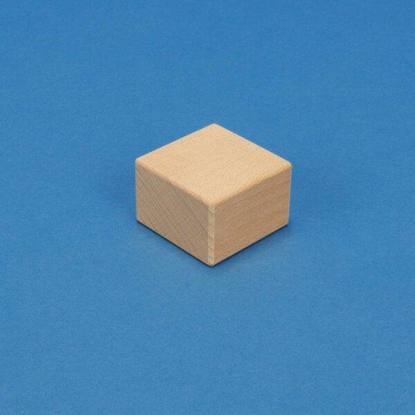 Stempelholz aus Buche 4,5 x 4,5 x 3 cm