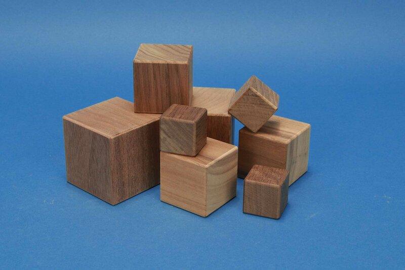 houten kubus walnoot