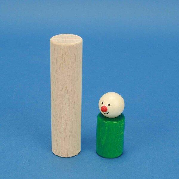 houten blokken rond Ø 3 x 12 cm