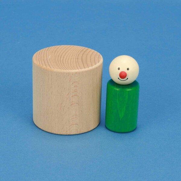 cubes en bois rond Ø 6 x 6 cm