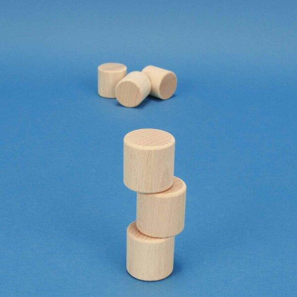 wooden block round Ø 3 x 3 cm