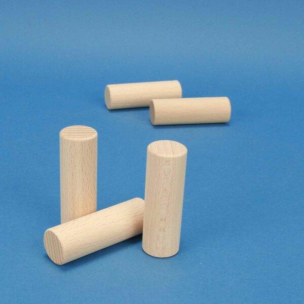 cylindres en hêtre Ø 1 inch x 3 inches