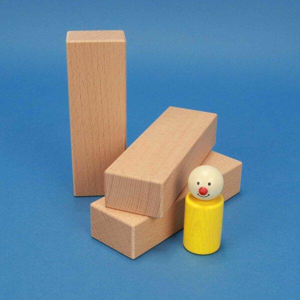 Holzbausteine aus Buche 13,5 x 4,5 x 3 cm