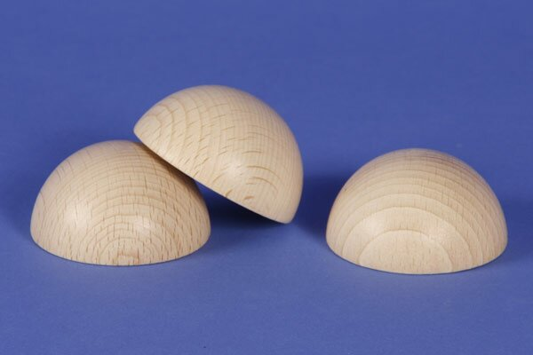 Half wooden balls beech Ø 4 inches