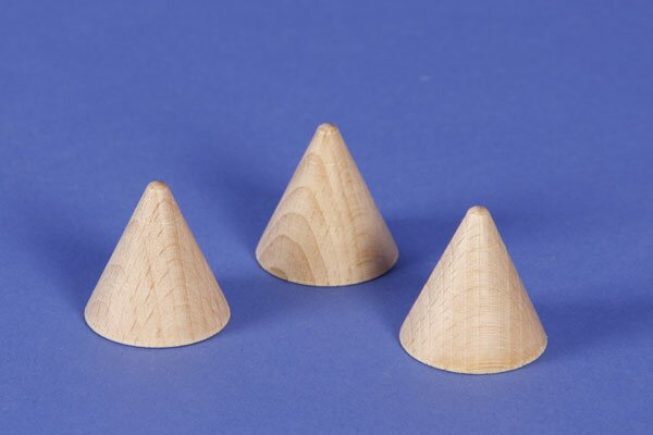 small cone made of beech 3 cm