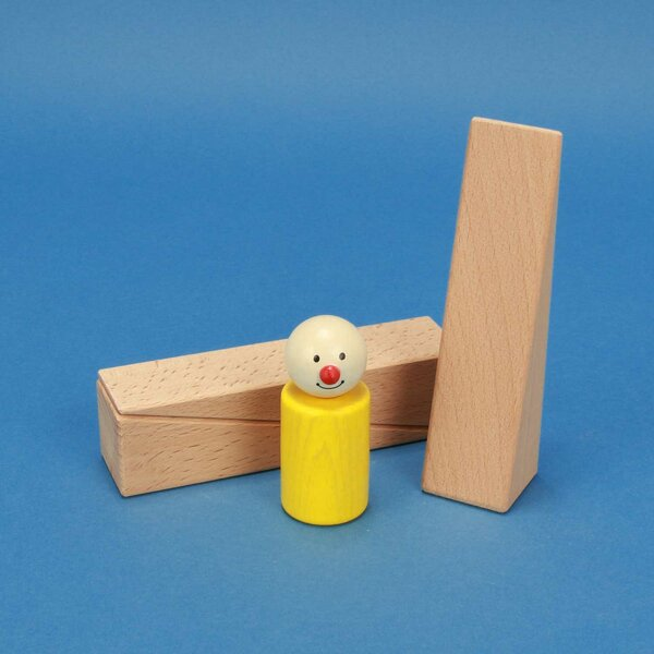 wooden triangle blocks 12 x 3 x 3 cm
