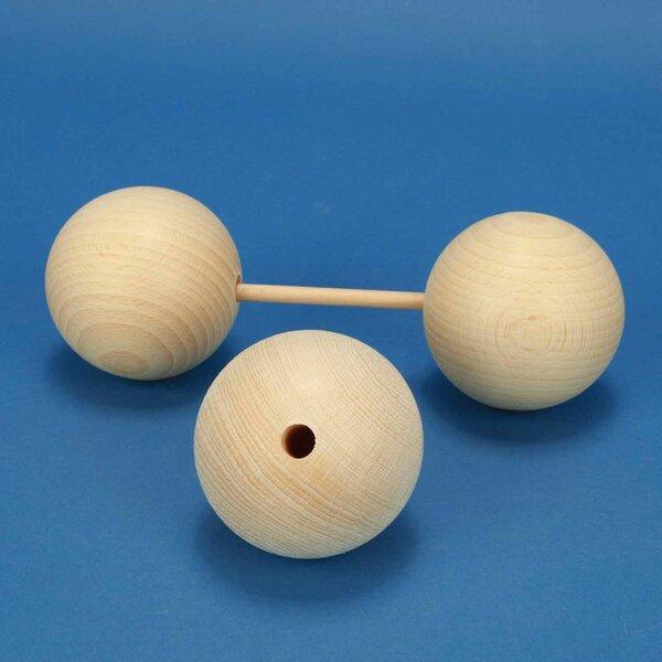 Holzkugeln Ø 70mm Halbbohrung 10mm