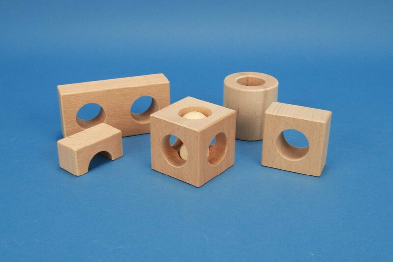 Drilled wooden blocks