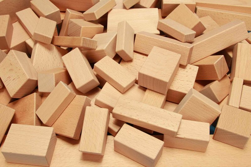 wooden blocks rectangular single