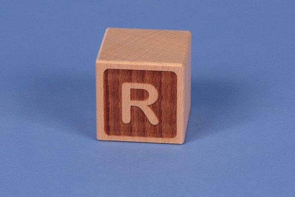 Buchstabenwürfel R negativ