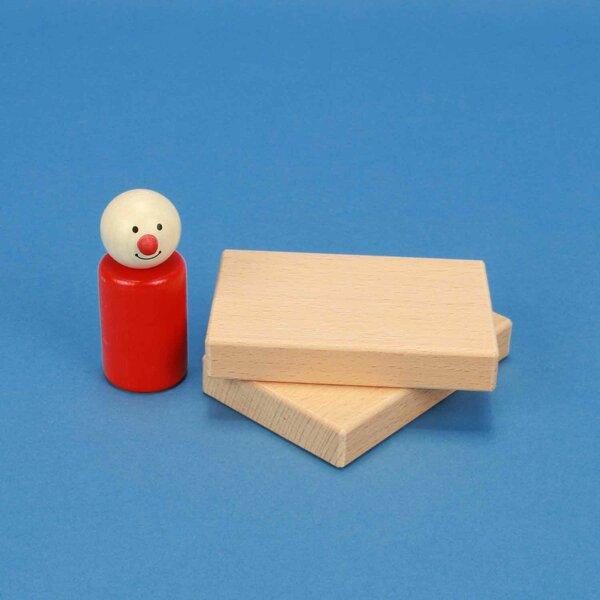 Holzbauklötze flach 9 x 6 x 1,5 cm